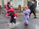 Free play in a puddle