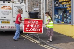 Road-ahead-closed