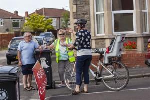 Stewarding-cyclist-approaching