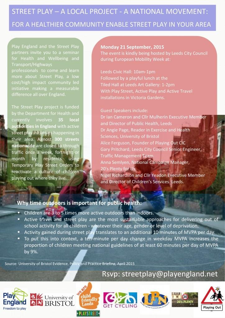 Leeds Street Play Seminar Invite