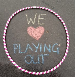 we love playing out chalk