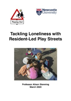 Tackling Loneliness with Resident-Led Play Streets Final Report