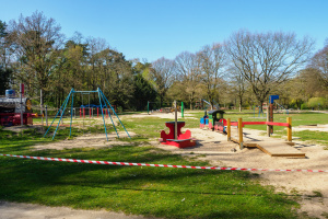 Playground closed because of covid